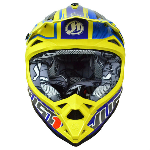 JUST1 J32 Rave Helmet - Blue | Yellow