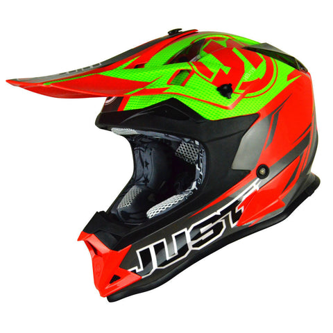 JUST1 J32 Rave Helmet - Lime | Red
