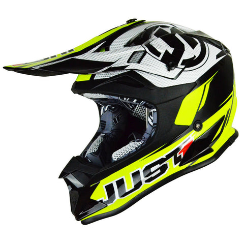 JUST1 J32 Rave Helmet - Black | Neon