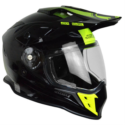 JUST1 J34 Adventure Helmet - Black | Neon