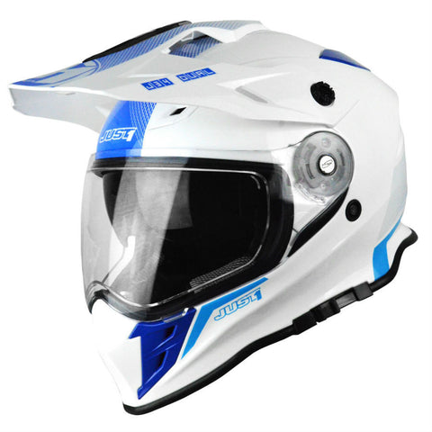 JUST1 J34 Adventure Helmet - Blue | Neon