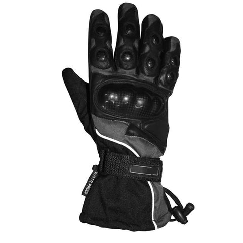 BikeTek Leather Winter Thermal Gloves w/Knuckle Protectors