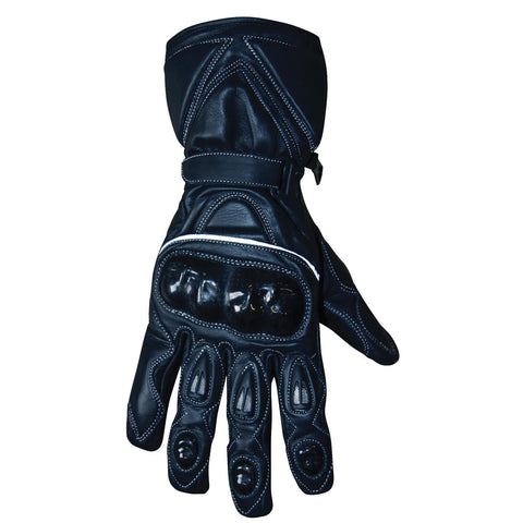 BikeTek Youth Leather Lightweight Road & Race Gloves