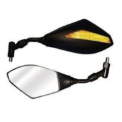 BikeIt Trojan LED Series Bar-Mounted Mirrors