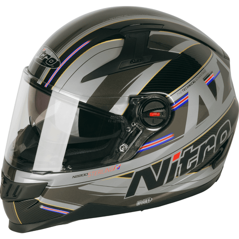 Nitro N2200 Sterling DVS Helmet - Satin Black | Grey