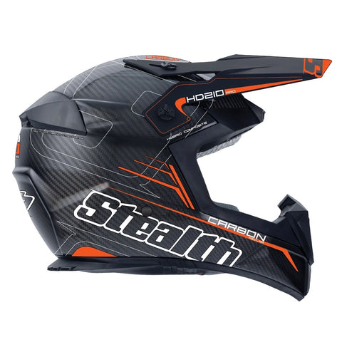 Stealth Pro Carbon Kevlar HD210 Helmet - Fast Orange