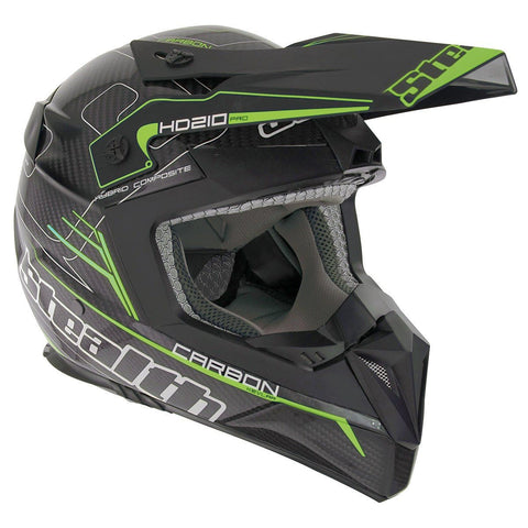 Stealth Pro Carbon Kevlar HD210 Helmet - Flo Green