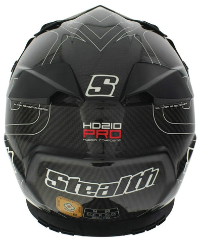 Stealth Pro Carbon Kevlar HD210 Helmet - Ice White