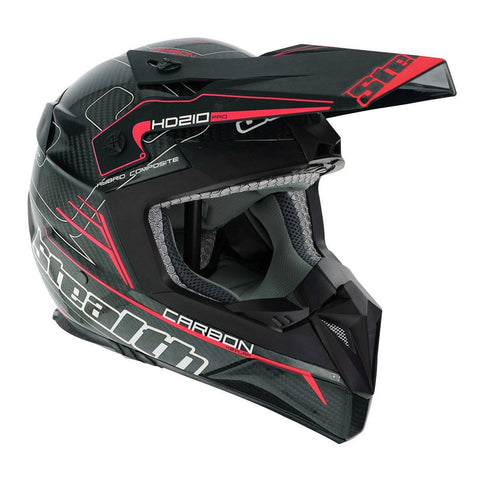 Stealth Pro Carbon Kevlar HD210 Helmet - Red