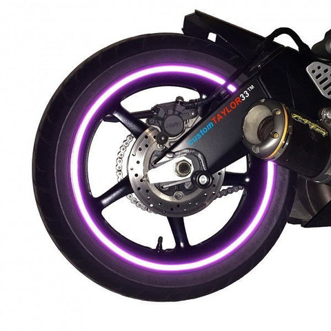 customTaylor33 Purple Reflective Wheel Rim Tape
