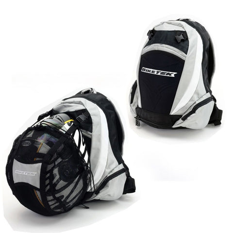 BikeTek Back Pack & Helmet Carrier