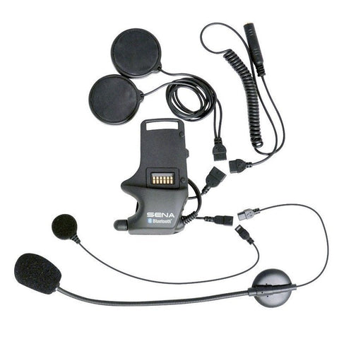 Sena Helmet Clamp Kit for Speakers & Earbuds Helmet - Attachable Boom & Wired Microphone