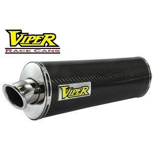 Viper Race Exhaust Can Carbon Fibre Oval