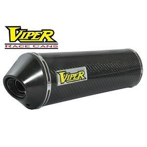 Viper Race Exhaust Can Carbon Fibre Oval w/ Carbon End Cap