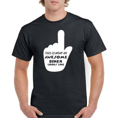 Awesome Biker' Biker T-Shirt - Mens
