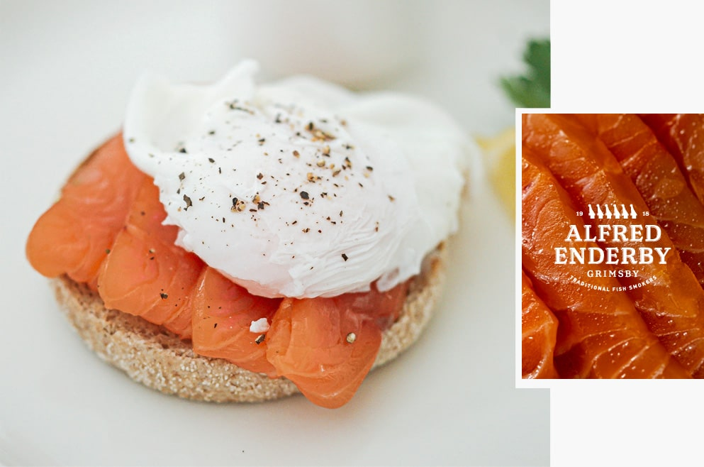 Poached Egg & Smoked Salmon Alfred Enderby