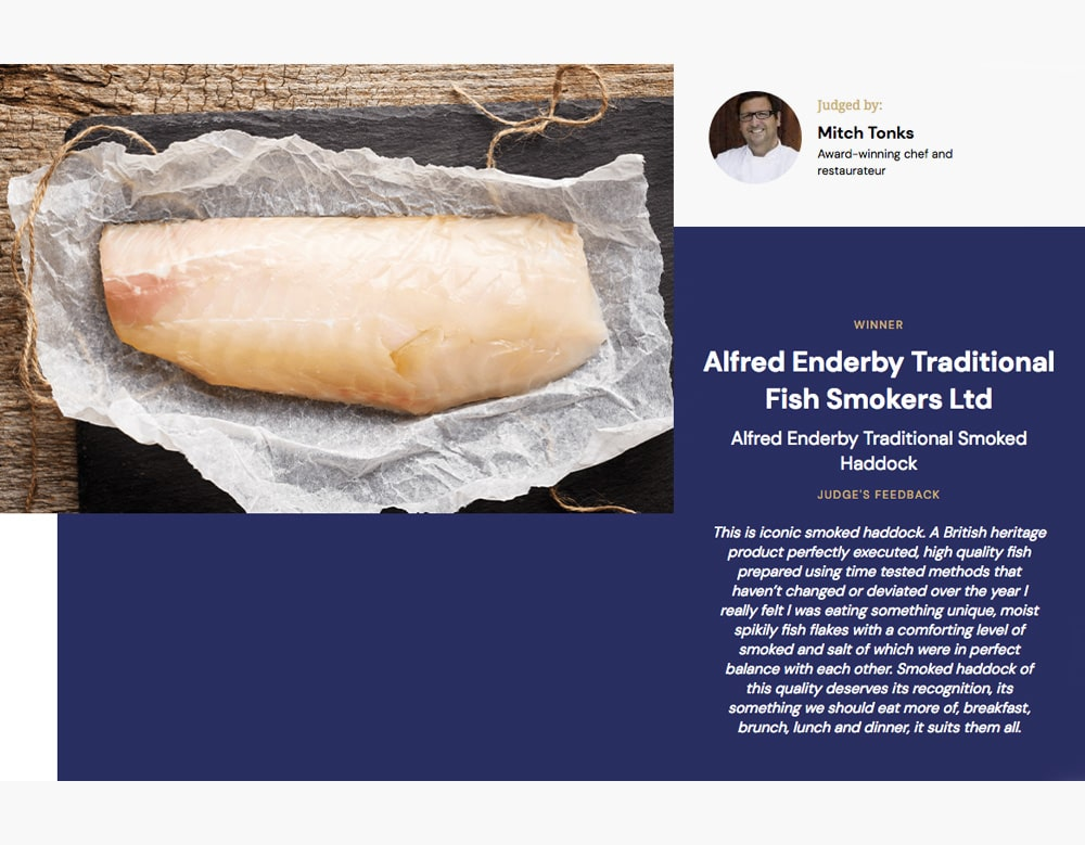 Alfred Enderby Traditionally Smoked Haddock