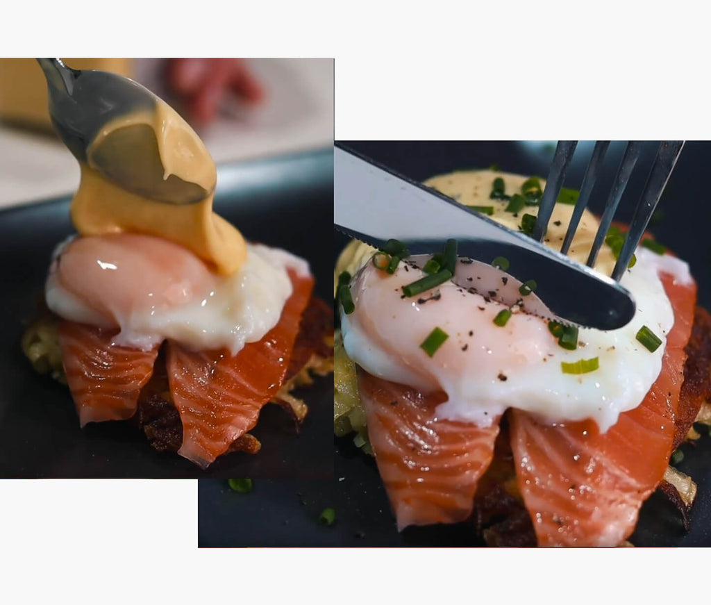 The PERFECT Brunch Dish - How to Cook Potato Rosti with Alfred Enderby Smoked Salmon & Poached Egg.