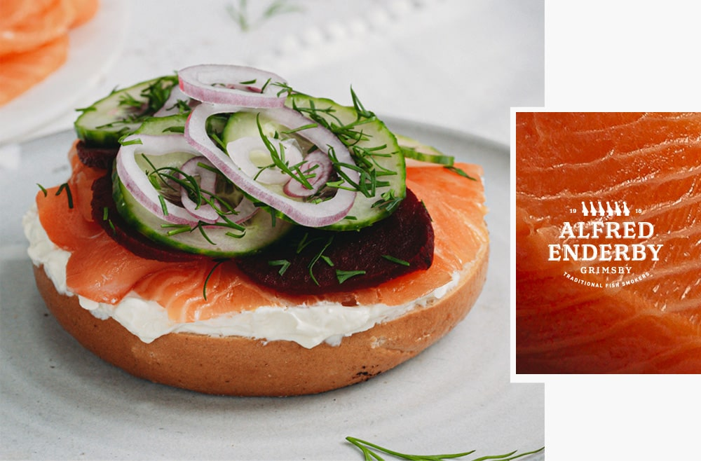 Smoked Salmon Bagel | Alfred Enderby Smoked Fish