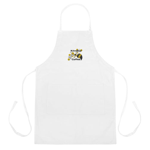 Funny Coffee Apron Coffee Break Recycled Polyester Apron Server Apron No Coffee No Workee Embroidered 8 oz Organic Cotton