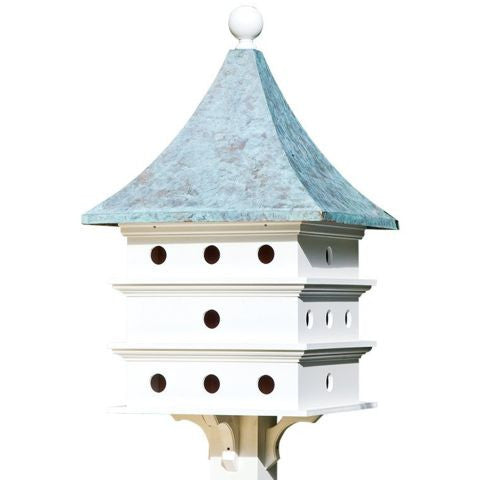 Lazy Hill 24 Apartment Copper Roof Poly Vinyl Purple Martin Birdhouse