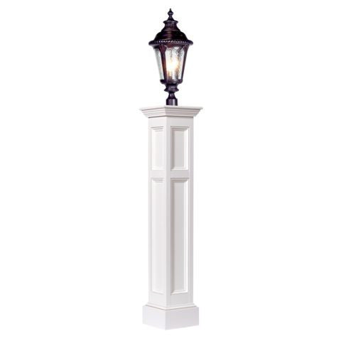 Plymouth Amish Raised Panel Vinyl Lamp Post