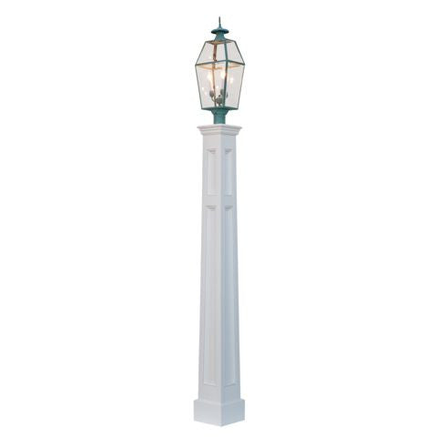 Trenton Amish Flaired Raised Panel Vinyl Lamp Post