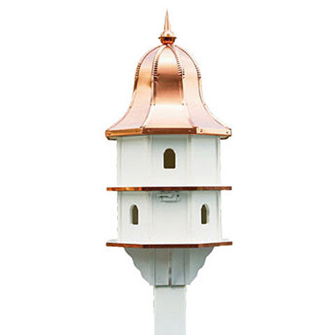 Large Copper Roof Birdhouse
