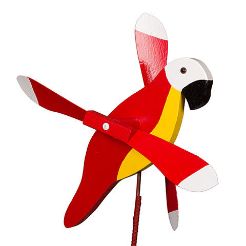 Red Parrot Whirly Bird