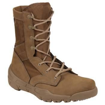 Survivalist HQ Military & Tactical Boots Survivalist HQ Waterproof V-Max Lightweight Tactical Boots - AR 670-1 Coyote Brown