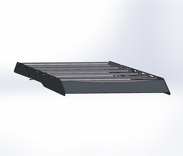 A CAD Rendering of the Roof Rack.