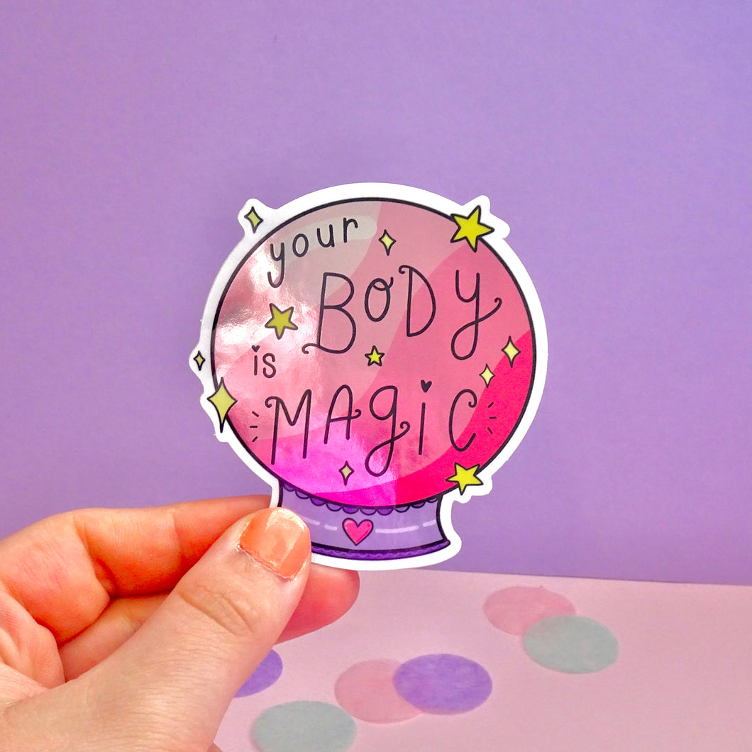 Body Magic Mirror Sticker