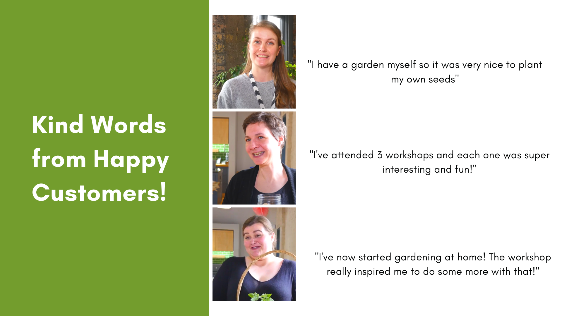 PlantStore Ireland Home Gardening Workshop Testimonials