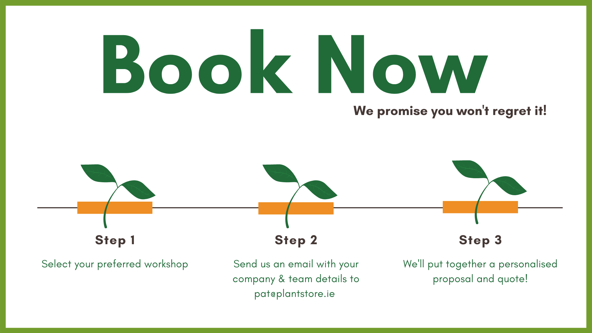 How to book a PlantStore Ireland Team Building Workshop