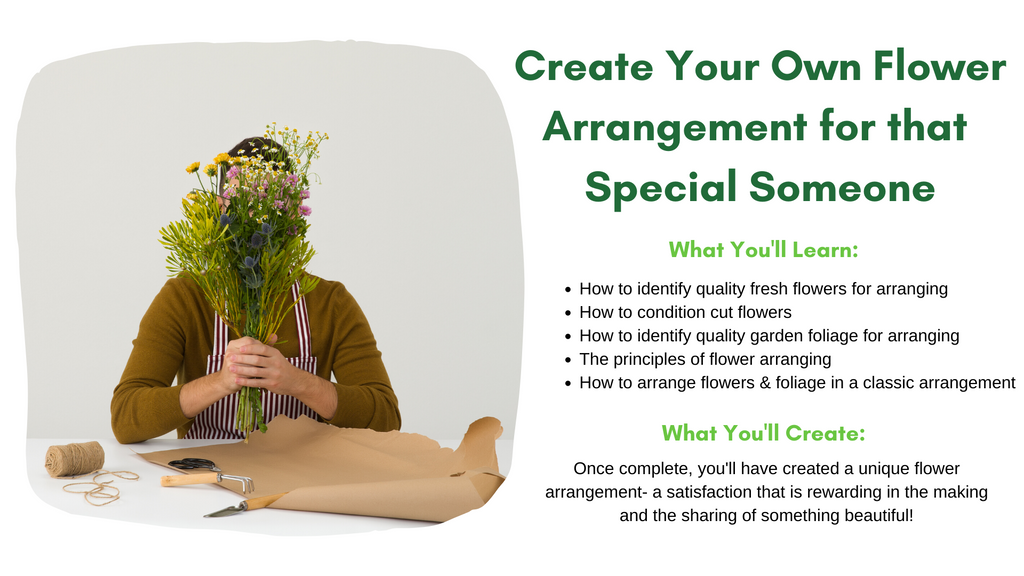 How to create your own flower arrangement workshop