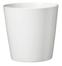 White Ceramic Plant Pot (For small plants)