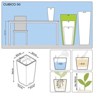 Lechuza Cubico Plant Containers