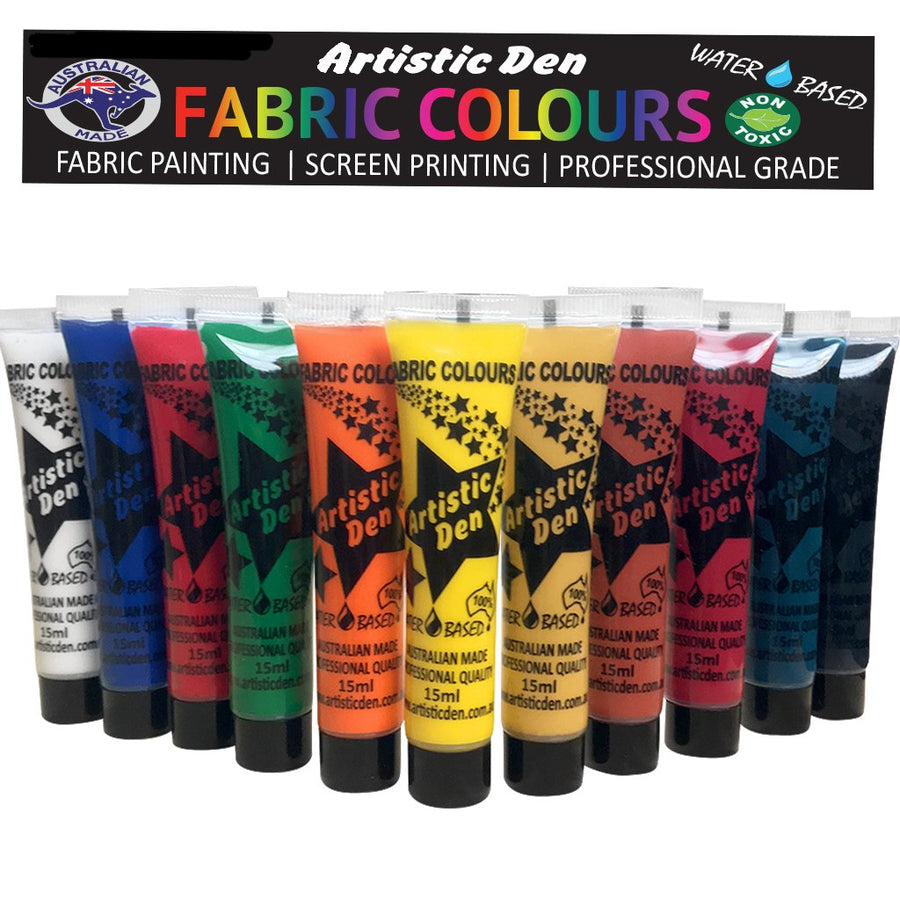 Fabric Paint Set 11 Tubes x 15ml
