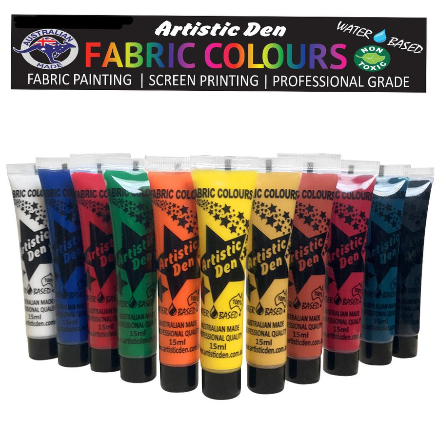 Fabric Paint Set 13 Tubes x 15ml