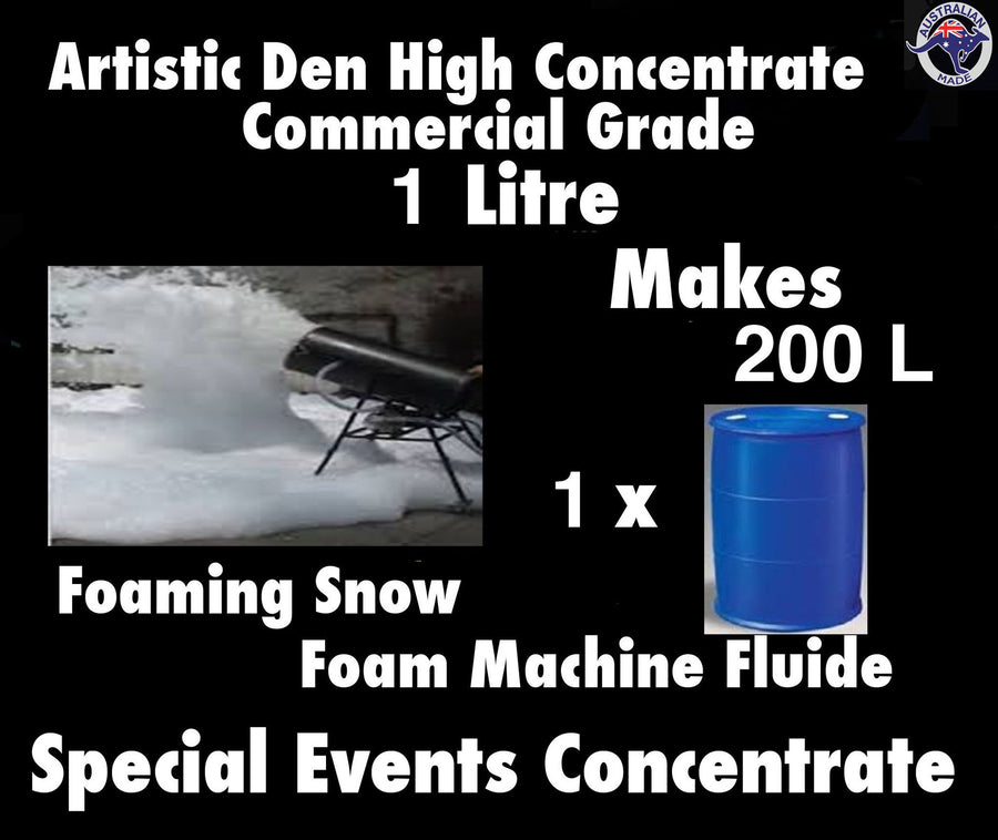 SNOW MACHINE FLUID  Foam Machine Fluid 1L Concentrate Makes 200Litres