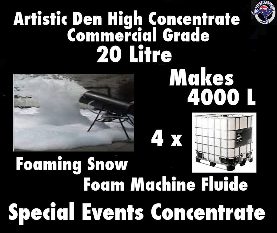 SNOW MACHINE FLUID  Foam Machine Fluid 20L Concentrate Makes 4000Litres