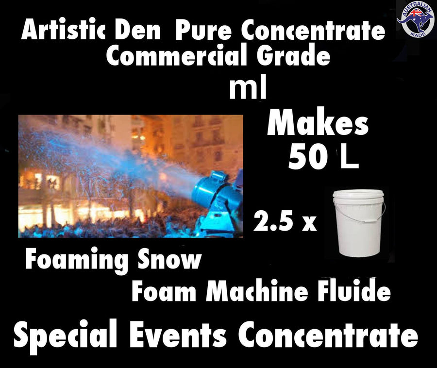 SNOW MACHINE FLUID 250ml Concentrate Makes 50 Litres Foam Machine Fluid