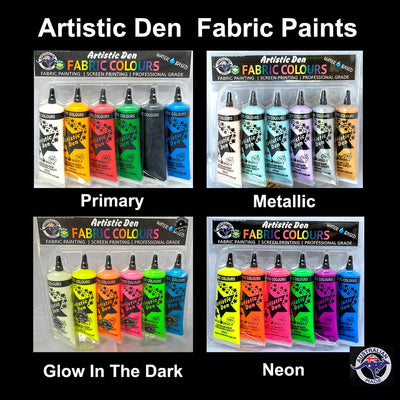 Fabric Paint Sets  6 x 50ml
