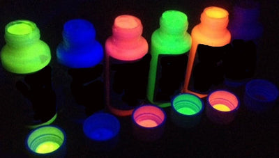 UV Glow Neon Face Body Paint 6x 50ml Tubes
