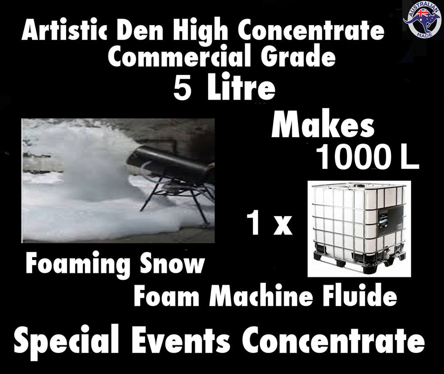 SNOW MACHINE FLUID  Foam Machine Fluid 5L/kg Concentrate  Makes 1000Litres