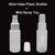 60ml Plastic Bottles HDPE Cosmetic Sanitiser Bottle + Mist Spray