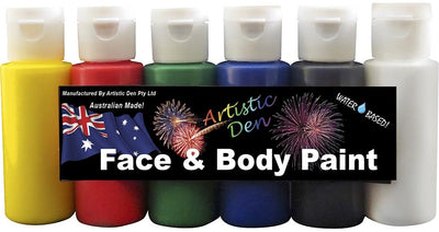 Airbrush Face Paint Set Primary 6 x 60ml