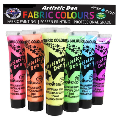Pearlescent Fabric Paint Set  6 x (15ml-250ml)