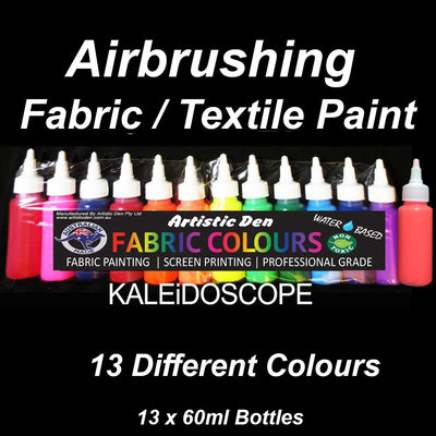 Airbrush Fabric / Textile Paint Set  13 x 60ml
