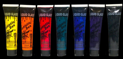 Liquid Glass, Porcelain, Tile Paint 7 x 15ml, 7 x 50ml